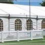 White PVC Picket Fencing